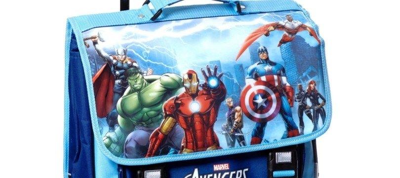 Cartable /à roulettes Avengers 3D